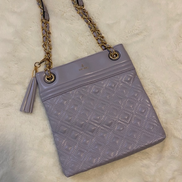 Handbags - NWOT Purple quilted fashion bag with chain strap